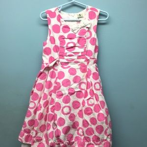 Gently used pink and white party dress. Size 5